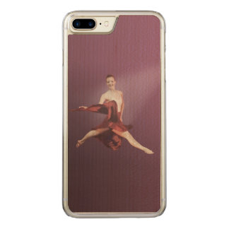 Leaping Ballerina in Red Carved iPhone 7 Plus Case