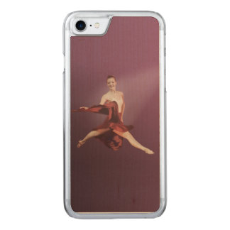Leaping Ballerina in Red Carved iPhone 8/7 Case