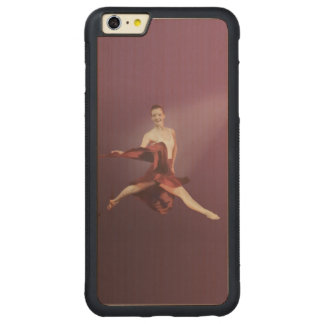 Leaping Ballerina in Red Carved® Maple iPhone 6 Plus Bumper Case