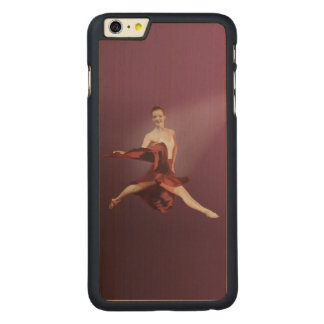 Leaping Ballerina in Red Carved® Maple iPhone 6 Plus Case