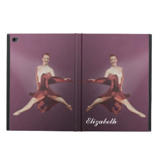 Leaping Ballerina in Red, Customizable Text Powis iPad Air 2 Case