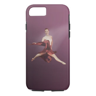 Leaping Ballerina in Red iPhone 8/7 Case