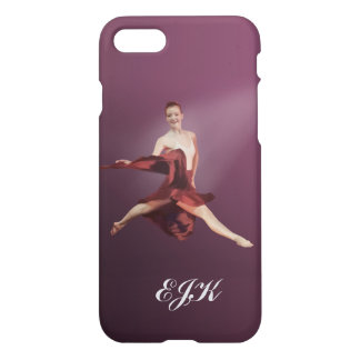 Leaping Ballerina in Red, Monogram iPhone 8/7 Case