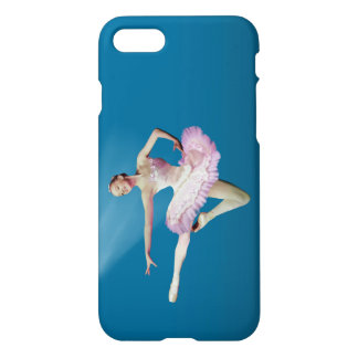 Leaping Ballerina on Blue iPhone 7 Case