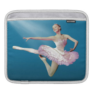 Leaping Ballerina on Blue Sleeve For iPads