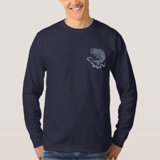 Leaping Bass Embroidered Long Sleeve T-Shirt