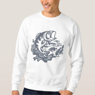 Leaping Bass Embroidered Sweatshirts