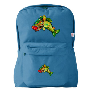 Leaping Bass Fisherman's Angling Design Backpack