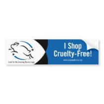 Leaping Bunny I Shop Cruelty-Free Bumper Sticker