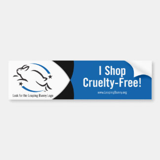 Leaping Bunny I Shop Cruelty-Free Car Bumper Sticker