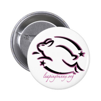 Leaping Bunny Outline 2 Inch Round Button