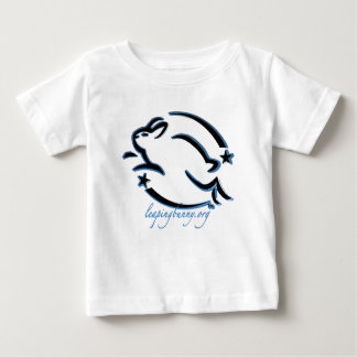 Leaping Bunny Outline Baby T-Shirt