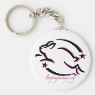 Leaping Bunny Outline Keychain