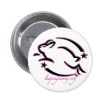 Leaping Bunny Outline Pinback Button