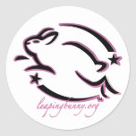 Leaping Bunny Outline Sticker
