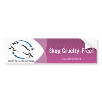 Leaping Bunny Shop Cruelty-Free Bumper Sticker