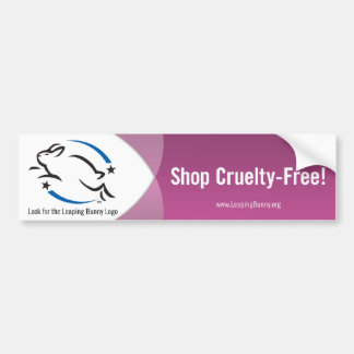 Leaping Bunny Shop Cruelty-Free Car Bumper Sticker