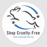 Leaping Bunny Shop Cruelty-Free Classic Round Sticker