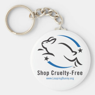Leaping Bunny Shop Cruelty-Free Basic Round Button Keychain