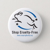 Leaping Bunny Shop Cruelty-Free Pinback Button