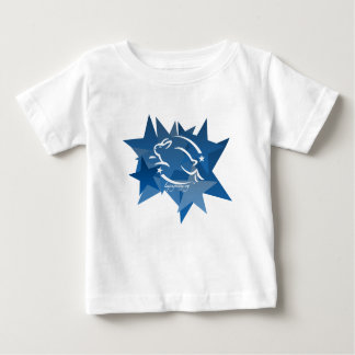 Leaping Bunny Stars Baby T-Shirt
