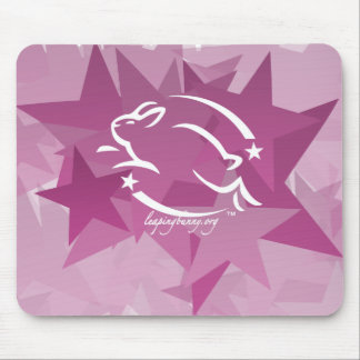 Leaping Bunny Stars Mouse Pad