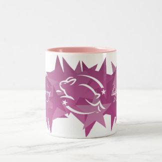 Leaping Bunny Stars Two-Tone Coffee Mug
