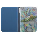 Leaping Carp Mermaid and Fish Kindle Case