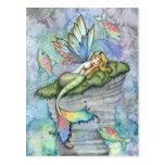 Leaping Carp Mermaid and Fish Postcard