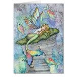 Leaping Carp Mermaid Greeting Card by Molly Harris