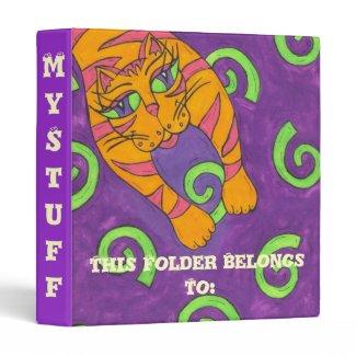 Leaping Cat Binder binder