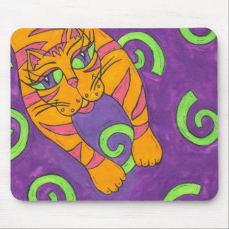 Leaping Cat Mouse Pad