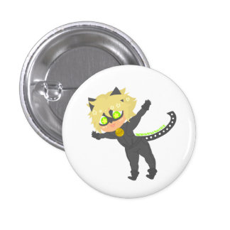 Leaping Chat Noir Button