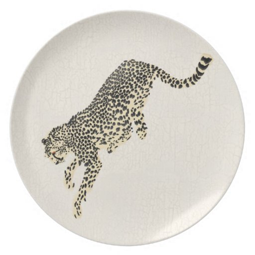 Leaping Cheetah Plate