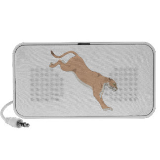 Leaping Cougar/Puma/Mountain Lion iPod Speakers