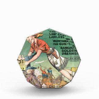 Leaping Cowgirl Acrylic Award