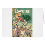 Leaping Cowgirl Card
