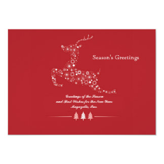 Leaping Deer Flat Holiday Card