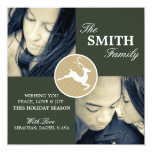 LEAPING DEER HOLIDAY PHOTO CARD INVITATION