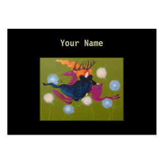 Leaping Deer. Large Business Card