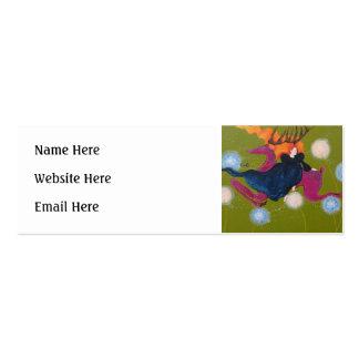Leaping Deer. Mini Business Card