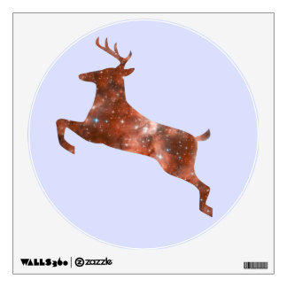 Leaping Deer Wall Cling Decal