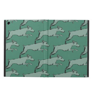 Leaping dog design iPad air cover