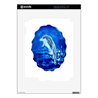 Leaping Dolphin Art Decals For iPad 2