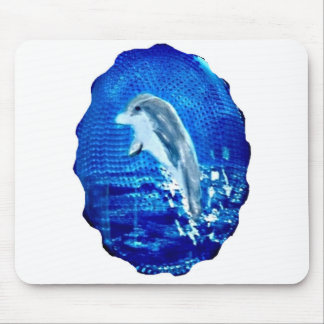 Leaping Dolphin Art Mouse Pad
