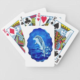 Leaping Dolphin Art Poker Deck