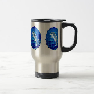 Leaping Dolphin Art Travel Mug