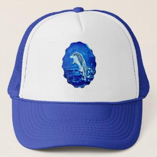 Leaping Dolphin Art Trucker Hat