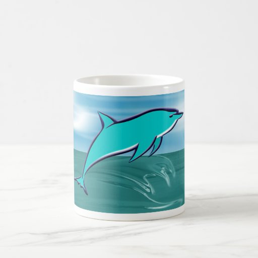 Leaping Dolphin Classic White Coffee Mug