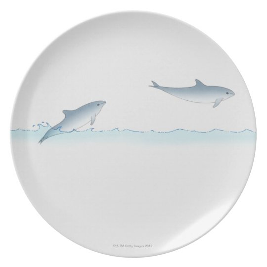 Leaping Dolphin Dinner Plate